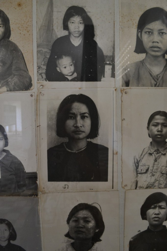 Both times I visited Tuol Sleng, I walked through the rooms full of photographs of the people held there. I tried to look at each face and imagine the person captured as a human being with a family, hopes, dreams, and emotions. I tried to see beyond the fear, but in so many cases, it's so pervasive that it is not possible to see anything else. I looked at the photograph of this lady for a long time. I was captured by her confident and defiant stare. How did she find such bravery within herself?