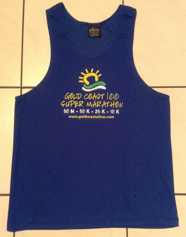 Behold the Gold Coast Super Marathon shirt!